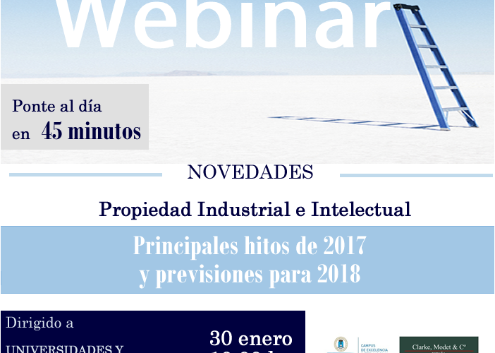 Webinar Course Industrial and Intellectual Property UPM and ClarkeModet