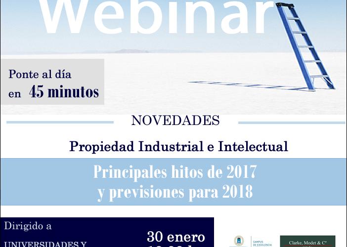 Curso Webinar Propiedad Industrial e Intelectual UPM y ClarkeModet